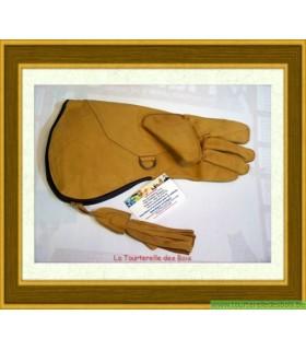 Gant cuir jaune naturel 36.5cm