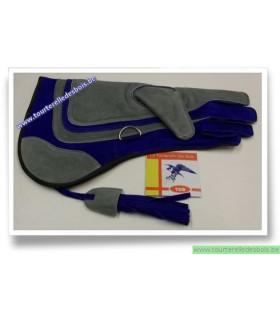 Gant pour aigle argenté et bleu de 39 cm .