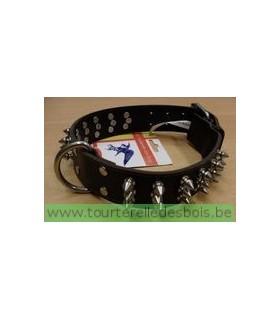 Collier cuir TDB avec clous 35 x 50 cm