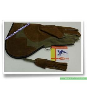 Gant cuir de suede orange foncé4 / khaki4 - 36 ncm
