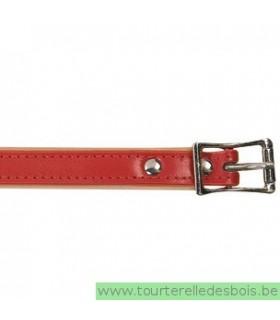 Collier cuir rouge 45 cm/16mm