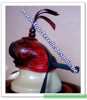 Chaperon hollandais taille 1 - rouge / noir