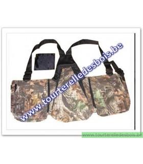 Veste avec poches en canvas camoufflage forêt