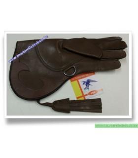 Gant cuir vachette brun - 36 cm