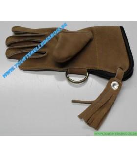 Gant cuir suede [1] Taille 1 - enfant - camel - DROIT