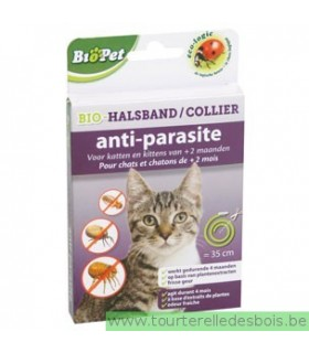 BIOPET COLLIER ANTIPARASITE CHAT - 35 CM