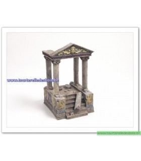Temple en ruine avec escalier
