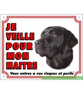 Panneau pvc Labrador retriever noir