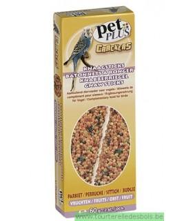 PP cracker perruche avec fruits 2 pièces