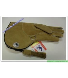 Gant d'hiver cuir suede couleur chamoisnGAUCHE
