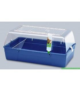 RODY Cage cobaye avec plexi bleue
