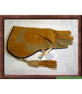 Gant cuir suede camel et naturel 36.cm nmain droite