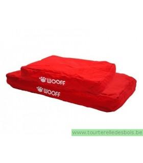 Coussin déhoussable WOOFF rouge 55x75x15 cm