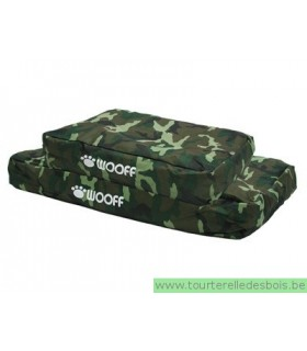 Coussin déhoussable WOOFF vert camoufflage n55x75x15 cm