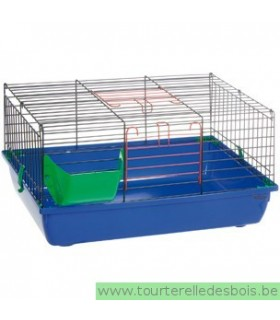 Cage lapin hoppers bleue - 60 cm
