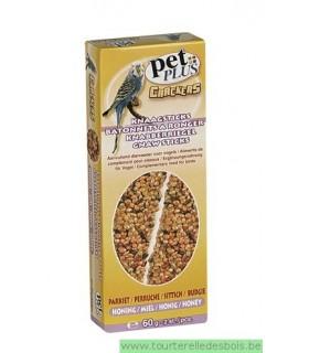 PP cracker perruche avec miel 2 pièces