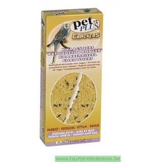 PP cracker perruche oeuf et miel 2 pièces