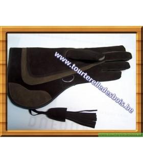 Gant cuir de suede pour aigle brun et marron de 39 ncm .