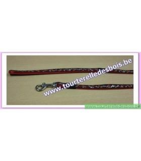 ROGZ Laisse DECO HL01X 11 MM os/rouge nylon