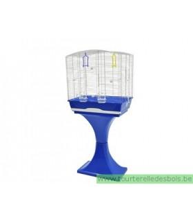Cage Mara avec pied bleu 56.5x36.5x127 cm