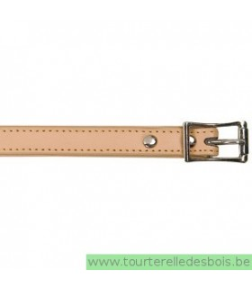 Collier en cuir naturel 40 cm/ 16mm