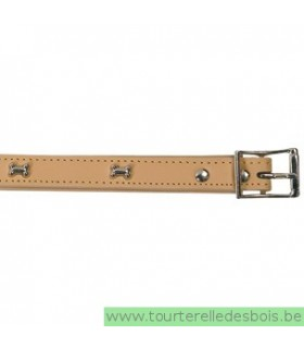 Collier en cuir naturel os 55 cm/ 25mm