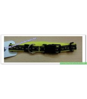 ROGZ Collier DECO HB12H 16 MM patte/jaune nylon