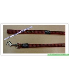 ROGZ Laisse DECO HL03C 20 MM Ecosse/rouge nylon