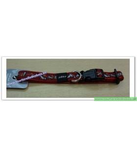 ROGZ Collier DECO HB12X 16 MM os/rouge nylon