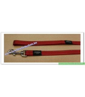 ROGZ Laisse HL06C 20 MM rouge nylon