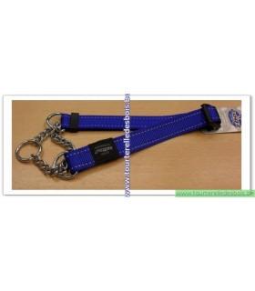 ROGZ Collier etrangleur HC05B 25 MM bleu nylon