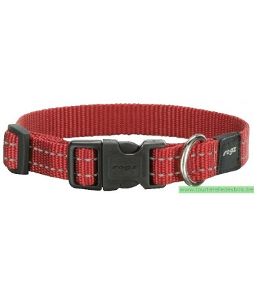 ROGZ SNAKE COLLIER HB11C-16MM ROUGE - M