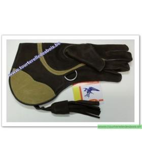 Gant Aigle cuir suede [3] Large - brun / chamois - 36 cm