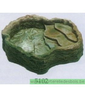 NAMIBA Terraced water bowl 28*26 CM Verte