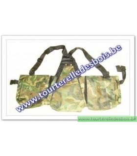 Veste avec poches en canvas camoufflage armée