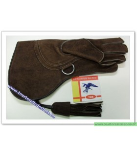 Gant Aigle cuir suede [3] Large - brun - 36 cm