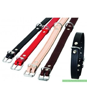 COLLIER RONDO CUIR ROUGE 10MM/24CM