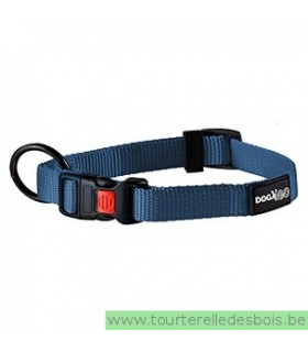 DOGX TO GO COLLIER NYLON BLEU - MEDIUM