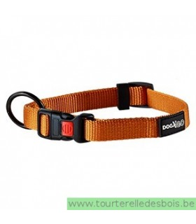 DOGX TO GO COLLIER NYLON ORANGE - MEDIUM