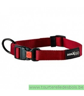 DOGX TO GO COLLIER NYLON ROUGE - MEDIUM
