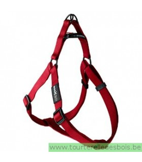 DOGX TO GO HARNAIS NYLON ROUGE - MEDIUM