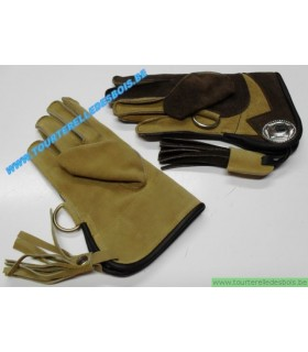 Gant cuir suede [2] Taille 2 - enfant - marron / camel - DROIT