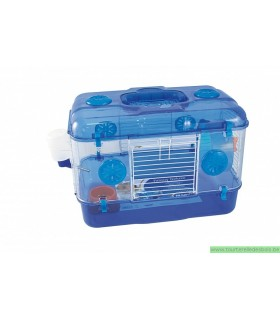 CAGE HAMSTER TIMMY DELUXE BLEU 39X26X28CM