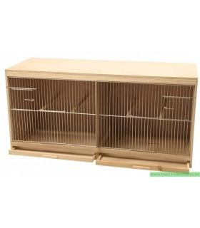 Cage d'élevage en bois façade avec porte mang. n80 cm