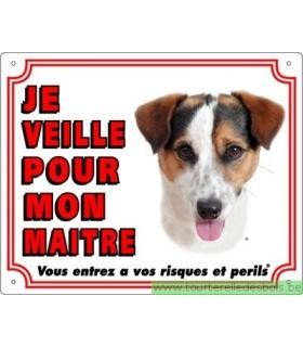 Panneau pvc Jack russel terrier poils lisses