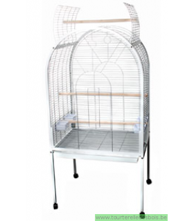 CAGE POUR PERROQUET POLLY - BLANC