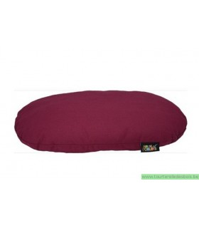 HOUSE OF COLORS COUSSIN OVALE BORDEAUX M -75X50CM