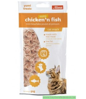 MINI CHICKEN'N'FISH -50GRS