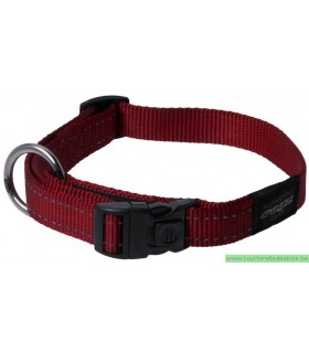 ROGZ Collier HB06C 20 MM rouge nylon