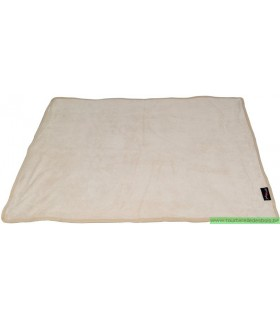 COUVERTURE MONSOON BEIGE - XXL - 150 X 100 CM